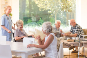 Seniors in assisted living.